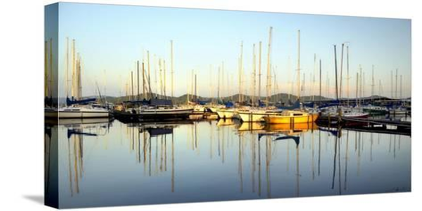 Marina Sundown III-Danny Head-Stretched Canvas Print