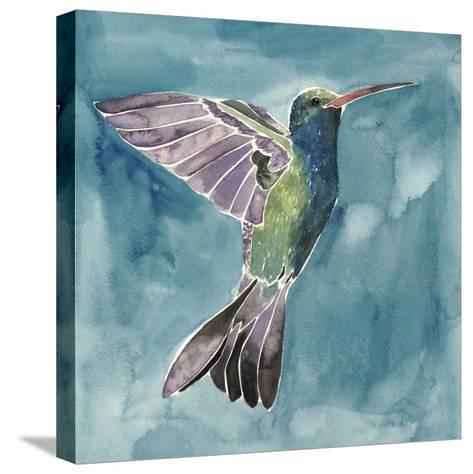 Watercolor Hummingbird I-Grace Popp-Stretched Canvas Print