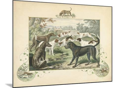 A Group of Hounds--Mounted Art Print