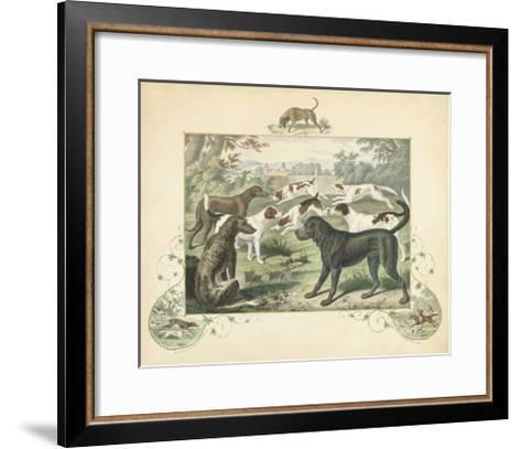 A Group of Hounds--Framed Art Print