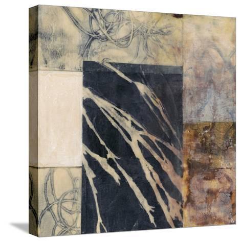 Indigo Layers II-Jennifer Goldberger-Stretched Canvas Print