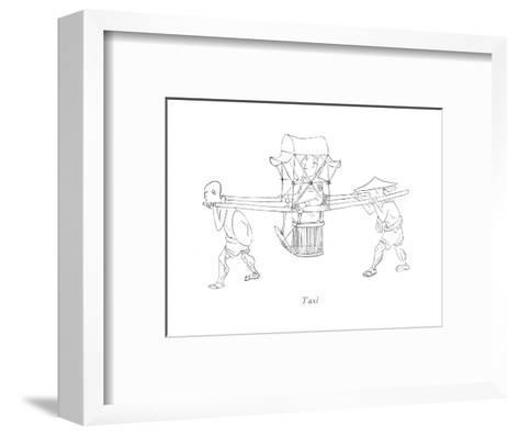 Taxi - New Yorker Cartoon-Saul Steinberg-Framed Art Print