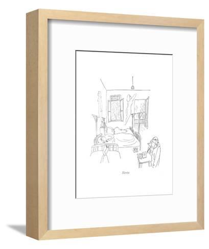 Siesta - New Yorker Cartoon-Saul Steinberg-Framed Art Print