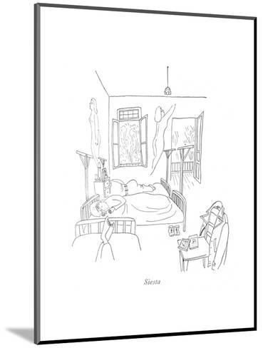 Siesta - New Yorker Cartoon-Saul Steinberg-Mounted Premium Giclee Print