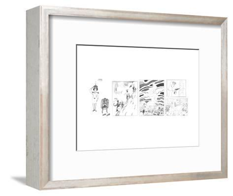 New Yorker Cartoon-Saul Steinberg-Framed Art Print