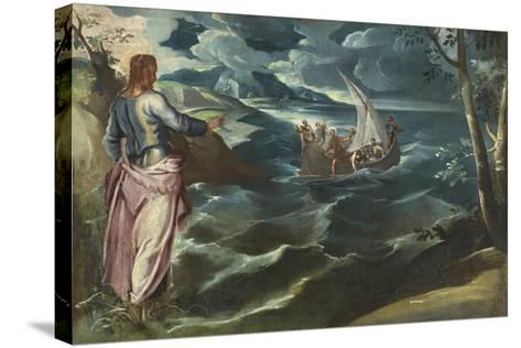 Christ at the Sea of Galilee, c.1575-80-Jacopo Robusti Tintoretto-Stretched Canvas Print