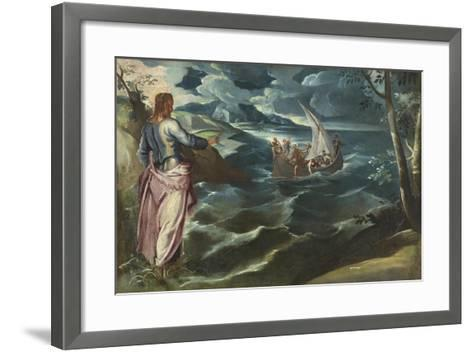 Christ at the Sea of Galilee, c.1575-80-Jacopo Robusti Tintoretto-Framed Art Print