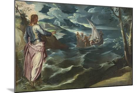 Christ at the Sea of Galilee, c.1575-80-Jacopo Robusti Tintoretto-Mounted Giclee Print