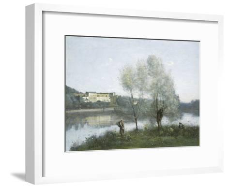 Ville D'Avray, c.1865-Jean-Baptiste-Camille Corot-Framed Art Print