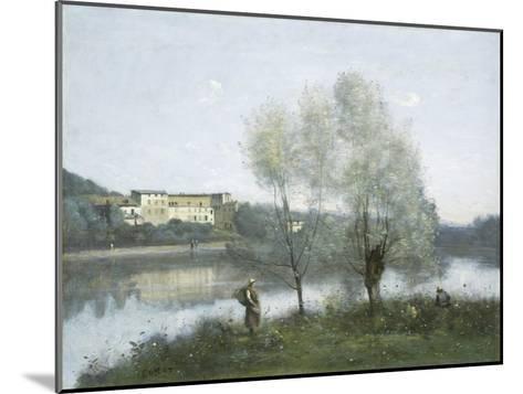 Ville D'Avray, c.1865-Jean-Baptiste-Camille Corot-Mounted Giclee Print