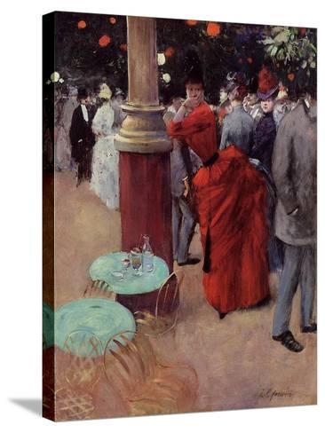 At the Public Garden, c.1884-Jean Louis Forain-Stretched Canvas Print