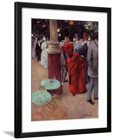 At the Public Garden, c.1884-Jean Louis Forain-Framed Art Print