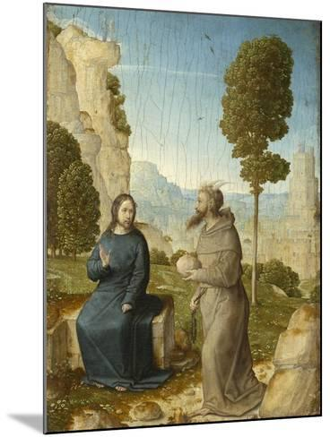 Temptation of Christ in the Wilderness, c.1500-4-Juan de Flandes-Mounted Giclee Print