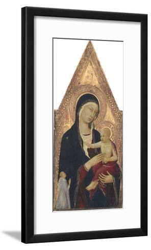 Madonna and Child with Donor, 1325-30-Lippo Memmi-Framed Art Print