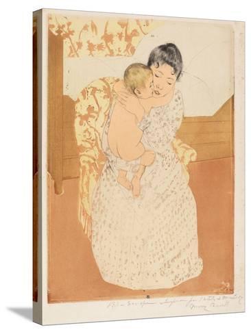 Maternal Caress, 1890-1-Mary Cassatt-Stretched Canvas Print