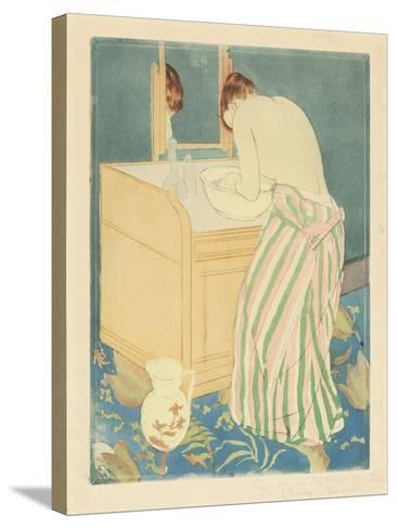 Woman Bathing, 1890-1-Mary Cassatt-Stretched Canvas Print