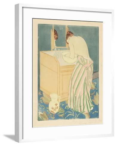 Woman Bathing, 1890-1-Mary Cassatt-Framed Art Print
