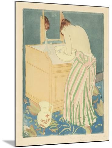 Woman Bathing, 1890-1-Mary Cassatt-Mounted Giclee Print