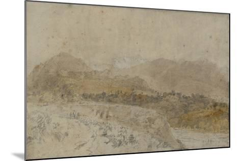 St Gothard and Mont Blanc Sketchbook [Finberg LXXV], Mont Blanc from the Arve Valley-J^ M^ W^ Turner-Mounted Giclee Print