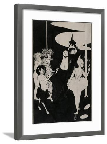 Design for the Frontispiece to John Davidson's Plays-Aubrey Beardsley-Framed Art Print