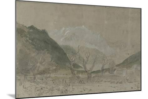 St Gothard and Mont Blanc Sketchbook [Finberg LXXV], Mont Blanc, from Sallanches-J^ M^ W^ Turner-Mounted Giclee Print