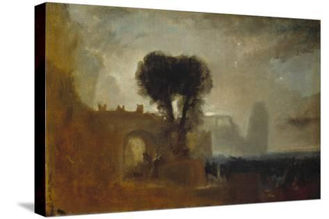 Archway with Trees by the Sea; Sketch for 'The Parting of Hero and Leander'-J^ M^ W^ Turner-Stretched Canvas Print