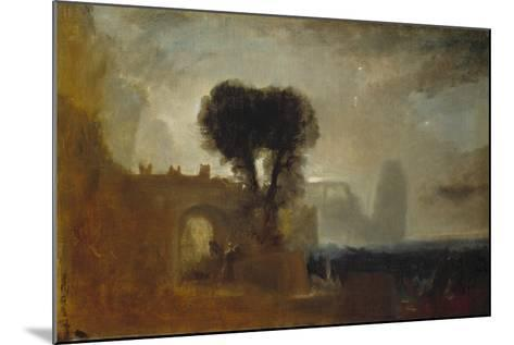 Archway with Trees by the Sea; Sketch for 'The Parting of Hero and Leander'-J^ M^ W^ Turner-Mounted Giclee Print