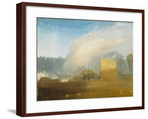 Rouen: the Left Bank, with Shipping Beyond-J^ M^ W^ Turner-Framed Art Print