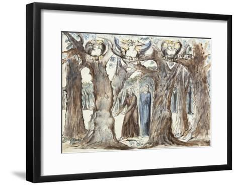Illustrations to Dante's Divine Comedy, the Wood of the Self-Murderers-William Blake-Framed Art Print