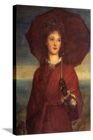 Eveleen Tennant, Later Mrs F.W.H. Myers-George Frederic Watts-Stretched Canvas Print