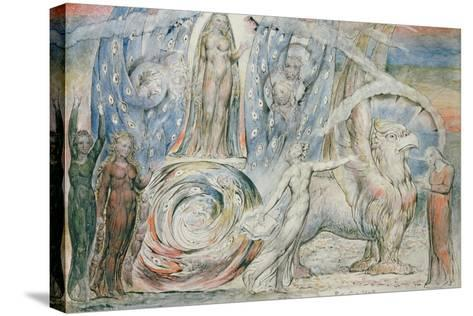 Illustrations to Dante's 'Divine Comedy', Beatrice Addressing Dante from the Car-William Blake-Stretched Canvas Print