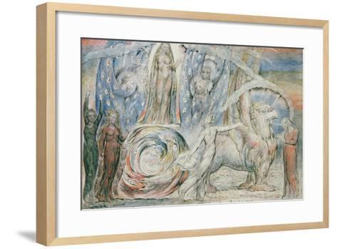 Illustrations to Dante's 'Divine Comedy', Beatrice Addressing Dante from the Car-William Blake-Framed Art Print