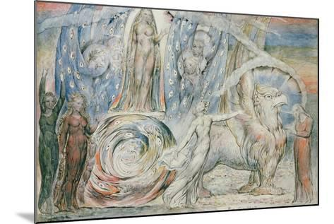Illustrations to Dante's 'Divine Comedy', Beatrice Addressing Dante from the Car-William Blake-Mounted Giclee Print