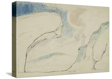 Illustrations to Dante's 'Divine Comedy', the Laborious Passage Along the Rocks-William Blake-Stretched Canvas Print