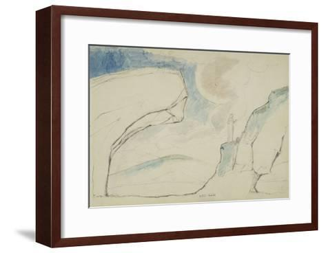 Illustrations to Dante's 'Divine Comedy', the Laborious Passage Along the Rocks-William Blake-Framed Art Print