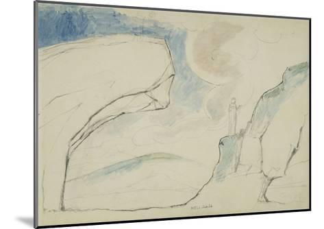 Illustrations to Dante's 'Divine Comedy', the Laborious Passage Along the Rocks-William Blake-Mounted Giclee Print