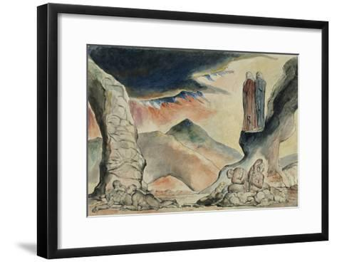 Illustrations to Dante's 'Divine Comedy', the Pit of Disease: the Falsifiers-William Blake-Framed Art Print