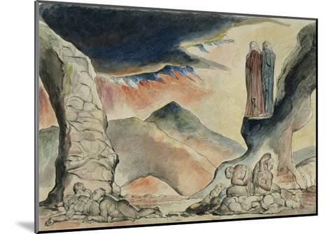 Illustrations to Dante's 'Divine Comedy', the Pit of Disease: the Falsifiers-William Blake-Mounted Giclee Print