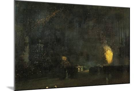 Nocturne: Black and Gold - the Fire Wheel-James Abbott McNeill Whistler-Mounted Giclee Print