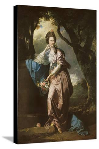 Mrs Woodhull-Johan Zoffany-Stretched Canvas Print