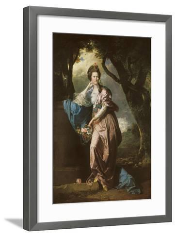 Mrs Woodhull-Johan Zoffany-Framed Art Print