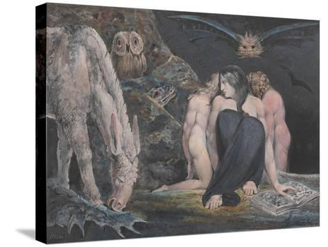 The Night of Enitharmon's Joy (Formerly Called 'Hecate')-William Blake-Stretched Canvas Print