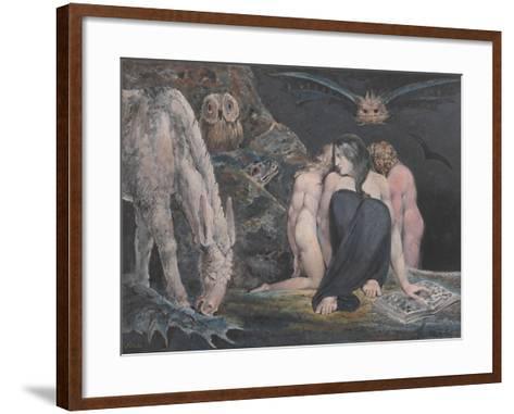 The Night of Enitharmon's Joy (Formerly Called 'Hecate')-William Blake-Framed Art Print