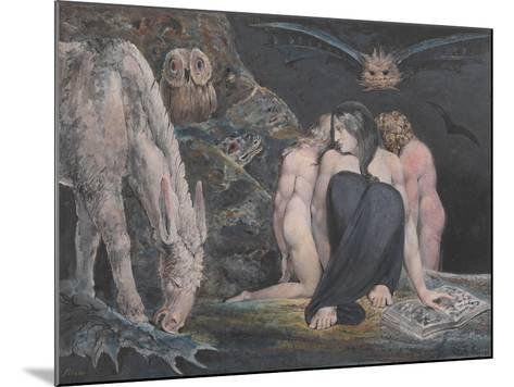 The Night of Enitharmon's Joy (Formerly Called 'Hecate')-William Blake-Mounted Giclee Print