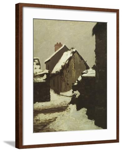 Houses in Snow-Robert Alan Mowbray Stevenson-Framed Art Print