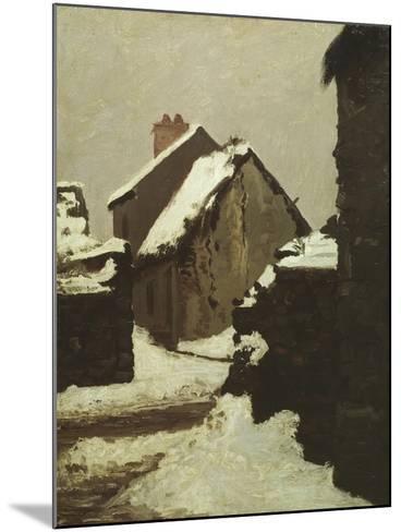 Houses in Snow-Robert Alan Mowbray Stevenson-Mounted Giclee Print