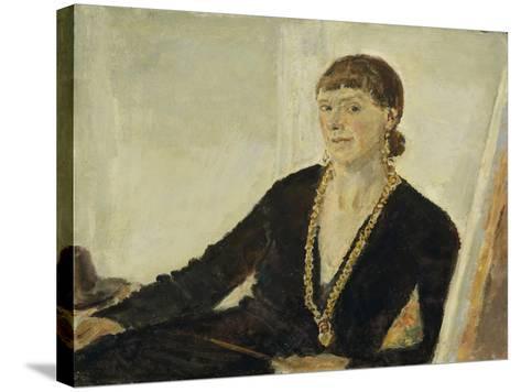 Self-Portrait-Dame Ethel Walker-Stretched Canvas Print
