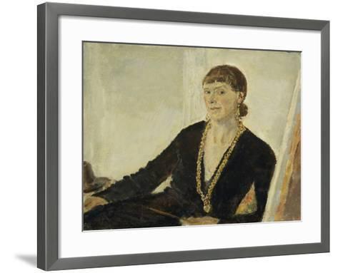 Self-Portrait-Dame Ethel Walker-Framed Art Print