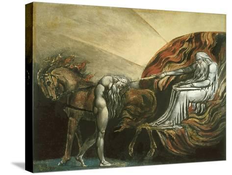 God Judging Adam-William Blake-Stretched Canvas Print