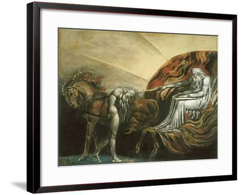 God Judging Adam-William Blake-Framed Art Print